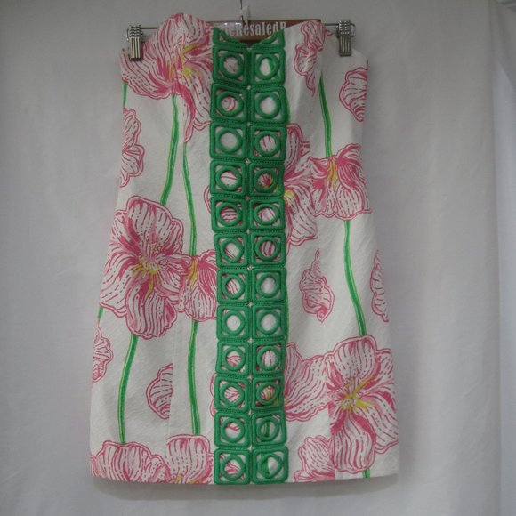 Lilly Pulitzer 4 Angela Dress Clover Cup
